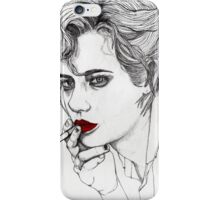 Girl with the Cigarette iPhone Case/Skin