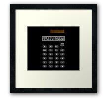Retro Calculator  Framed Print