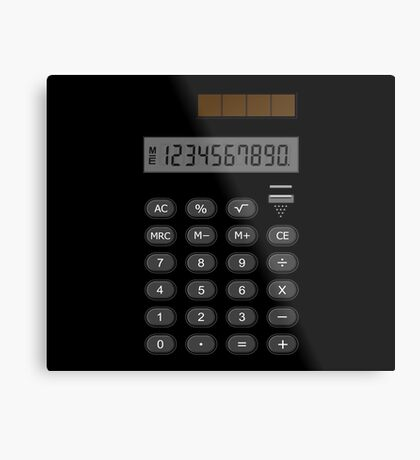 Retro Calculator  Metal Print