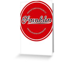 Franklin Engine Company Logo Greeting Card