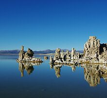 Tufa formations, Mono Lake, California by Claudio Del Luongo