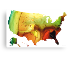 United States of America Map 5 - Colorful USA Canvas Print