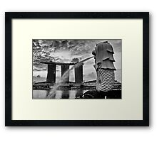 Merlion Framed Print