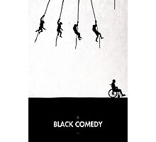 99 Steps of Progress - Black comedy Photographic Print