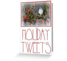 Holiday Tweets Greeting Card