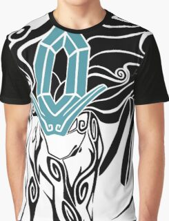 Tribal Suicune - Black Graphic T-Shirt