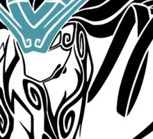 Tribal Suicune - Black Sticker