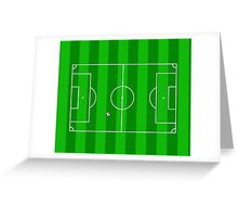 Football Soccer Pitch Greeting Card