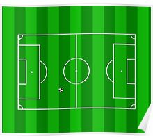Football Soccer Pitch Poster