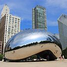 Chicago Bean and Skyline by Frank Romeo