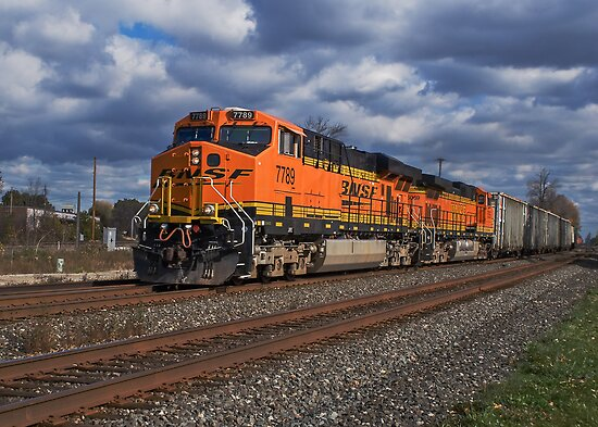 BNSF Stormy Weather by StonePhotos