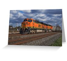 BNSF Stormy Weather Greeting Card