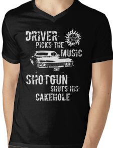 Driver Picks the Music Mens V-Neck T-Shirt