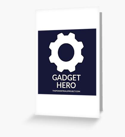 """""""Gadget"""" Hero Logo - Dark Background Greeting Card"""