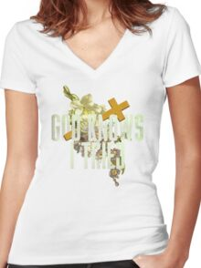 God Knows I Tried Women's Fitted V-Neck T-Shirt