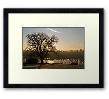 Forest Mere Dawn Framed Print
