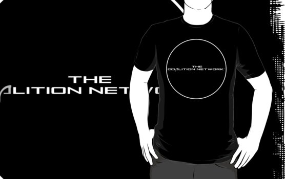 The Coalition Network™ (Full Logo) [White & Silver] (Front) by TCNInc