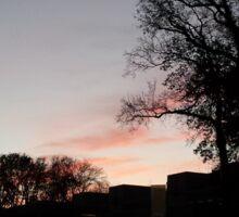 Sundown at the Cubicus (UTwente) Sticker