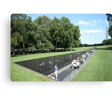 People At The Wall Canvas Print