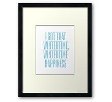 Wintertime Happiness Framed Print