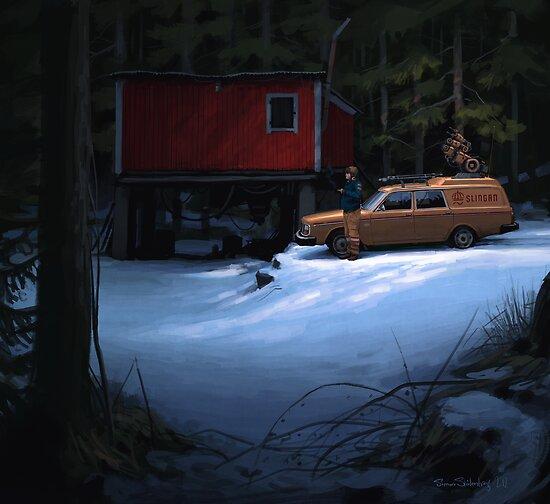 Skogverkstaden by Simon Stålenhag