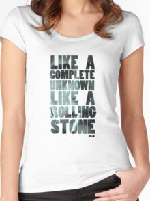 Like a Rolling Stone T shirt Women's Fitted Scoop T-Shirt