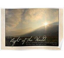"""I am the Light of the World"" (Greeting Card) Poster"