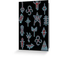 Hunters Runes Greeting Card