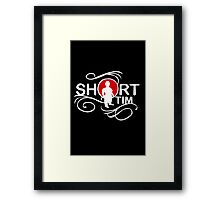 Me love you short time funny nerd geek geeky Framed Print