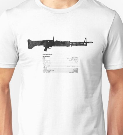 TM Machine Gun, 7.62-MM, M60 W/E Unisex T-Shirt