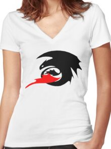 HOW TO TRAIN YOUR DRAGON - 04 Women's Fitted V-Neck T-Shirt