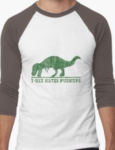 T-Rex Hates Pushup T-Shirt Men's Baseball ¾ T-Shirt