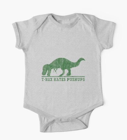 T-Rex Hates Pushup T-Shirt One Piece - Short Sleeve