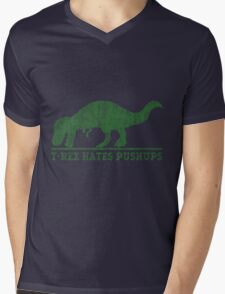 T-Rex Hates Pushup T-Shirt Mens V-Neck T-Shirt