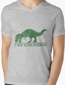 T-Rex Hates Pushup T-Shirt Mens V-Neck T-Shirt