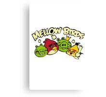 Mellow birds funny nerd geek geeky Canvas Print