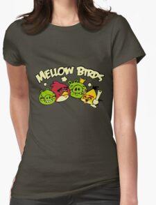 Mellow birds funny nerd geek geeky Womens Fitted T-Shirt