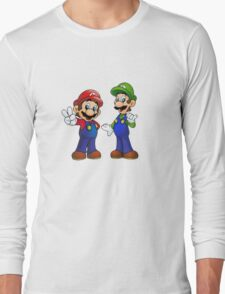 Mario and Luigi Bros. Long Sleeve T-Shirt