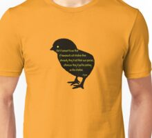 Picking on the Chicken Silhouette Unisex T-Shirt