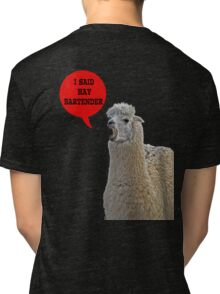 alpaca speaking Tri-blend T-Shirt