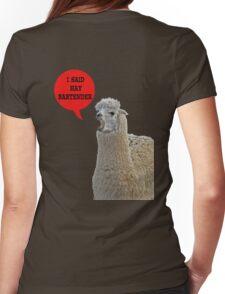 alpaca speaking Womens Fitted T-Shirt