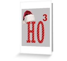Cute Santa Hat HO3 Christmas Ho Ho Ho Greeting Card