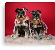 Christmas Pups Canvas Print