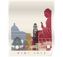 Hong Kong skyline poster Poster