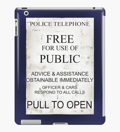 Ipad Tardis - Pull To Open iPad Case/Skin