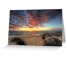 Beachcombers Sunset Greeting Card