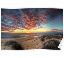 Beachcombers Sunset Poster