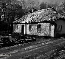 Cottage in Snow, Cultra, County Down. by Laura Butler