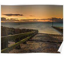 Morcombe Bay Sunset Poster