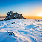 Winter sunrise over Hay Tor, Dartmoor. by Justin Foulkes